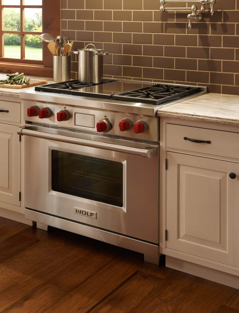 image of the Wolf DF364G installed in a kitchen