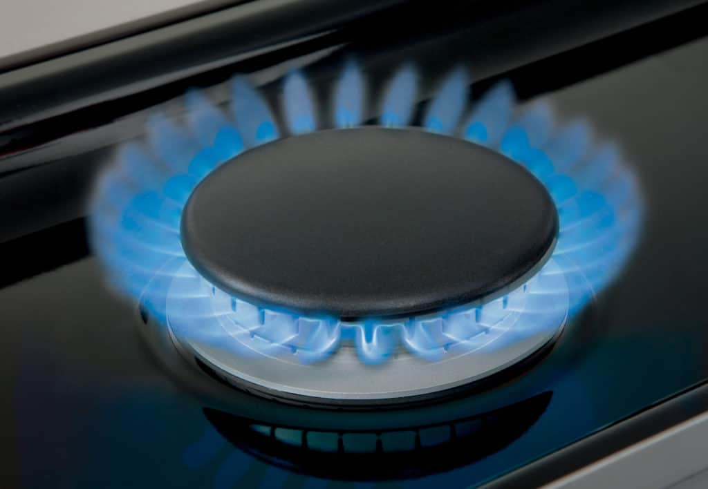 image of Wolf Dual Stacked Burner in operation