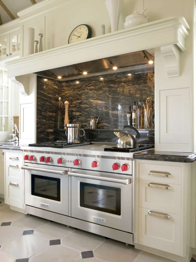 image of the Wolf GR606F range installed in a kitchen