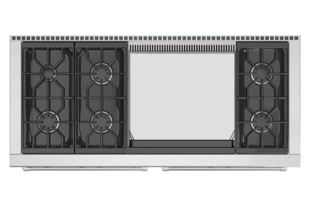 image of Wolf DF606DG 60 inch range