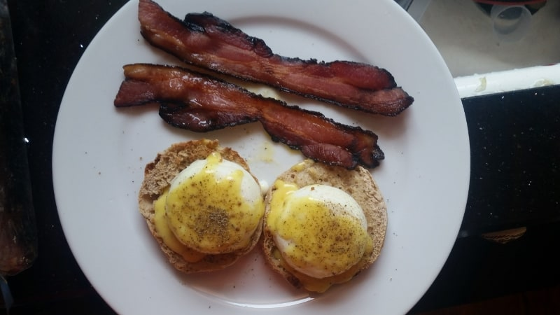 image of eggs benedict ready to serve