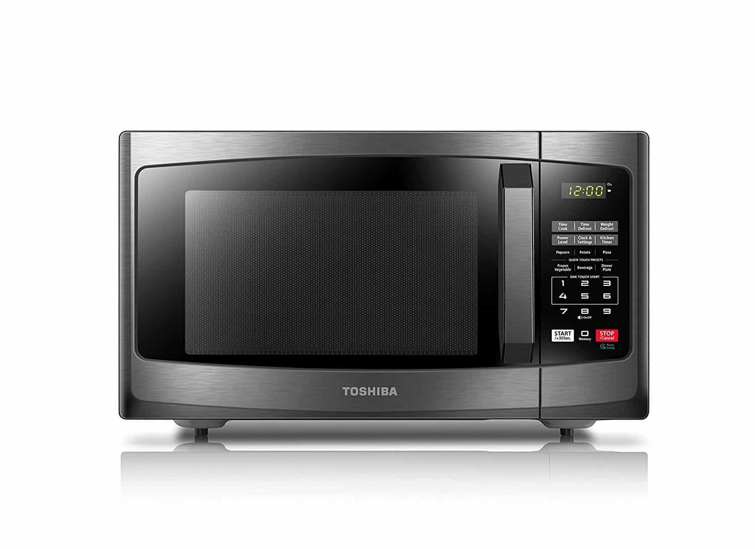 image of the Toshiba compact EM925A5A-BS microwave oven