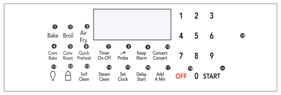 image of Frigidaire GCRG3060 Contorl Panel