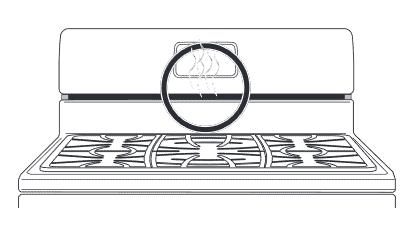 illustration of Frigidaire GCRG3060 oven vent