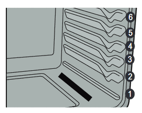illustration of Frigidaire GCRG3060 rack positions