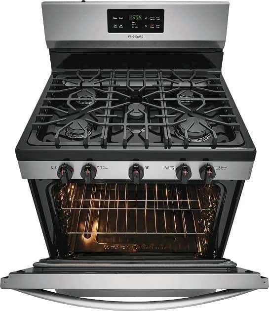image of Frigidaire FFGF3054TS 30 inch range with open oven door