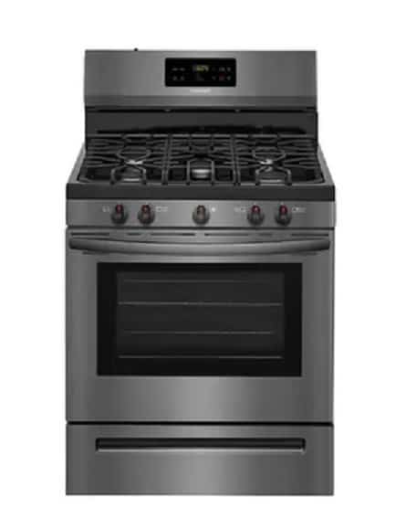 image of Frigidaire FFGF3054TD 30 Inch Range Black Stainless Steel