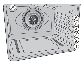 illustration of Frigidaire 30 inch oven rack positions