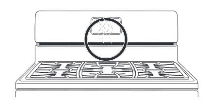 illustration of oven vent for Frigidaire range