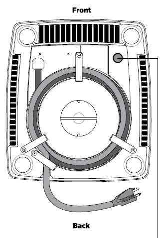 image of the Vitamix 5200 Bottom with reset button