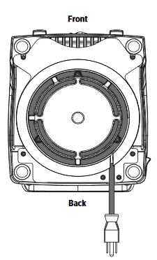 image of the bottom of the blender base of the Vitamix 750 blender