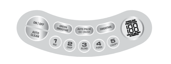 image of Breville Fresh & Furious Control Panel