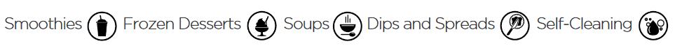 image of Vitamix A3500 Program Symbols