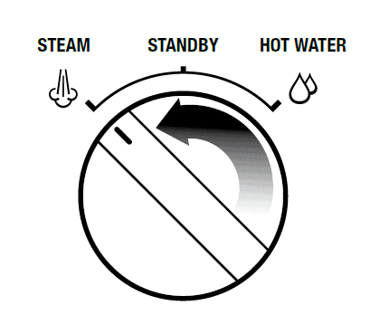 image of Breville Steam/Hot Water Dial